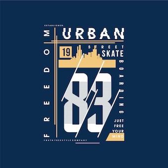 Liberdade texto rua urbana t shirt tipografia
