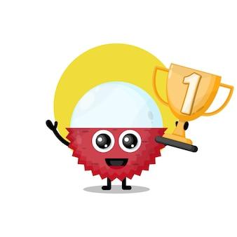 Lichia troféu personagem fofa mascote