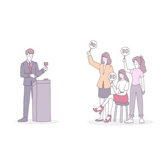 Licitação ou leilões envolvendo a compra de um item