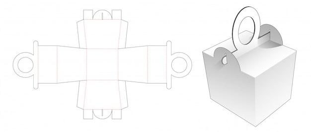Lida com design de molde cortado de caixa de refeição