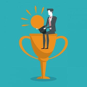 Líder de negócios bem sucedido