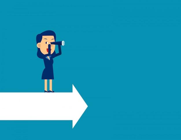 Líder procurando direção para o sucesso.