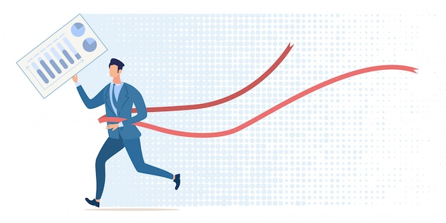 Liderança nos negócios, vitória na competição financeira, sucesso no desenvolvimento da empresa