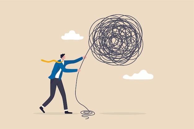 Liderança para lidar e lidar com problemas de negócios