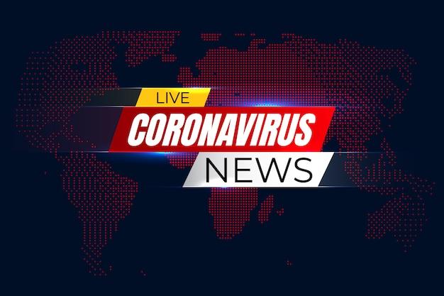 Life corona virus news background