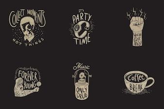 Lifestyle Enjoy Happiness Motivação Inspiração Word Graphic Illustration