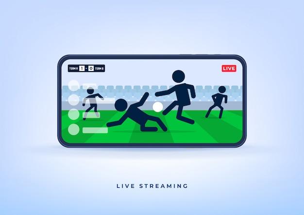 Liga de futebol ou futebol ao vivo no celular.