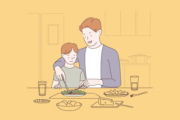 Ligação familiar, conceito de parentalidade feliz