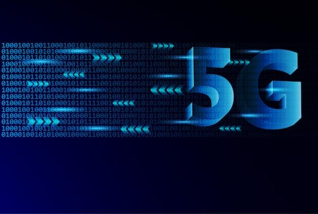 Ligação sem fios à internet 5g.