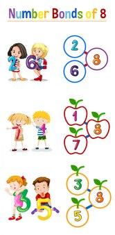 Ligações numéricas de oito