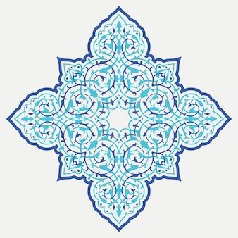 Ligadura ornamental oriental. estrela do islã em fundo branco