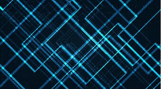 Light microchip, neon digital e conceito de segurança,