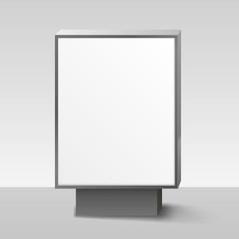 Lightbox em branco ou quadro indicador em fundo branco. ilustração vetorial