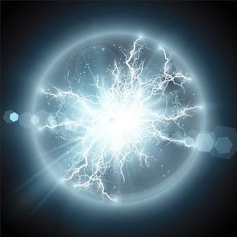 Lightning flash trovão faíscas em um fundo transparente.