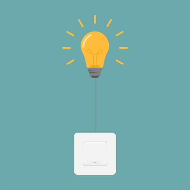 Ligue as luzes com ilustração do design do interruptor de luz