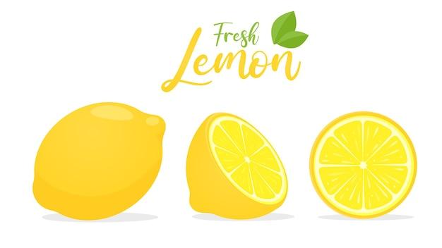 Limão amarelo com sabor azedo para cozinhar e espremer para fazer limonada saudável
