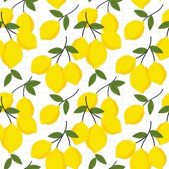 Limão e folhas padrão sem emenda.