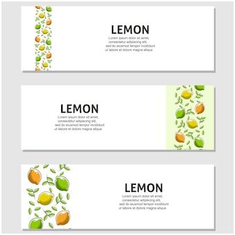 Limão em design plano