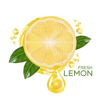 Limão fresco isolado em design plano