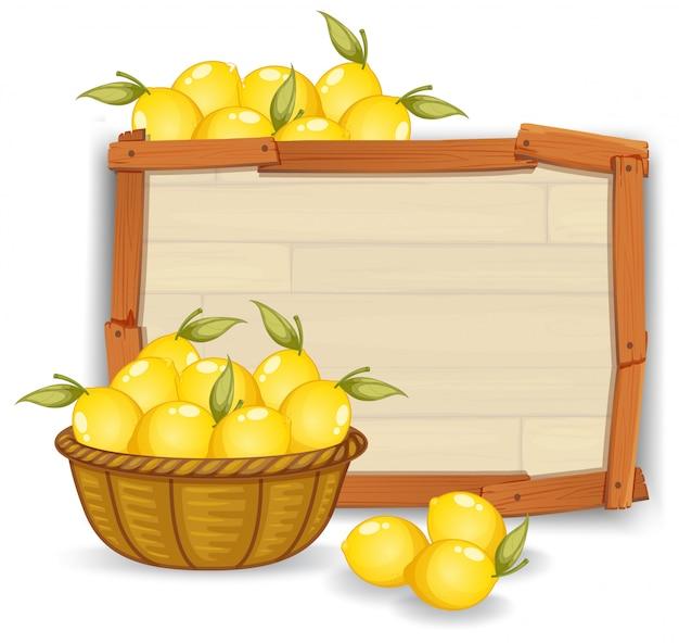 Limão, ligado, tábua madeira
