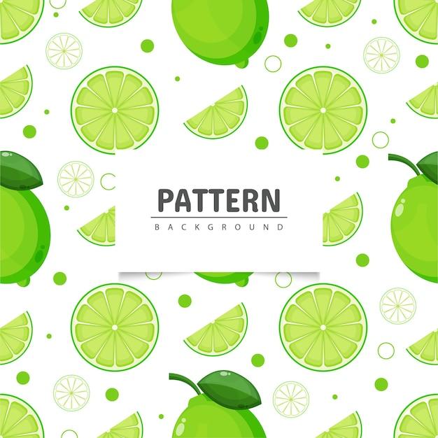 Limão padrão sem emenda e fatias de limão Vetor Premium