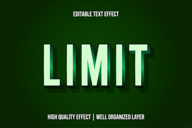 Limitar estilo de efeito de texto moderno