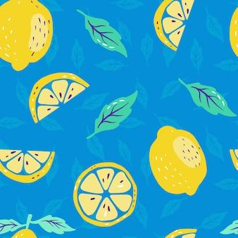 Limões frescos e limão fatiado
