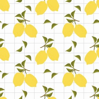 Limões frescos sem costura padrão vector.