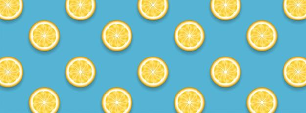 Limões, frutas amarelas suculentas cortadas metade do padrão inteiro