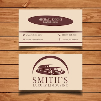 Limousine business card