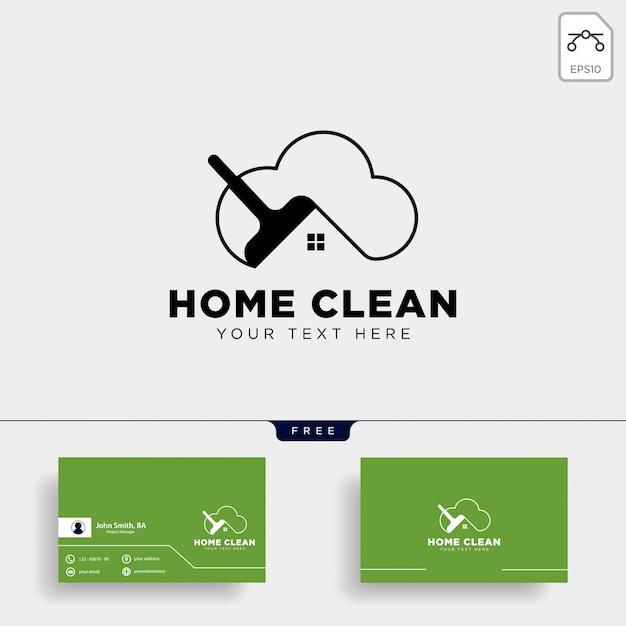 Limpar a casa ou ilustração em vetor modelo logotipo casa criativa