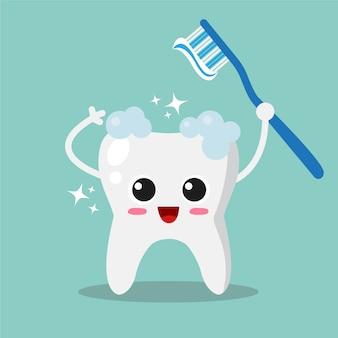 Limpar, dente, fundo