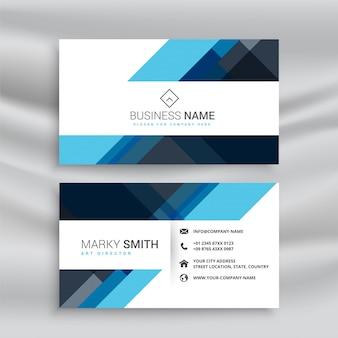 Limpar o design de cartão azul abstrato