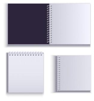 Limpe o bloco de notas de papel vazio para anotações