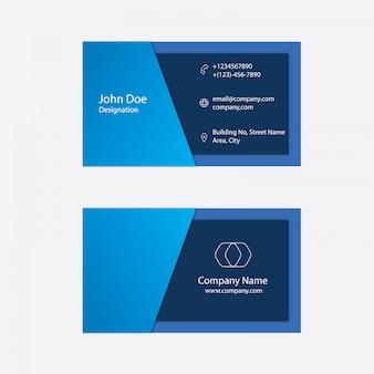 Limpe o cartão de visita azul da cor do design