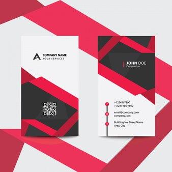 Limpe o cartão de visita de negócios corporativos de design liso vermelho