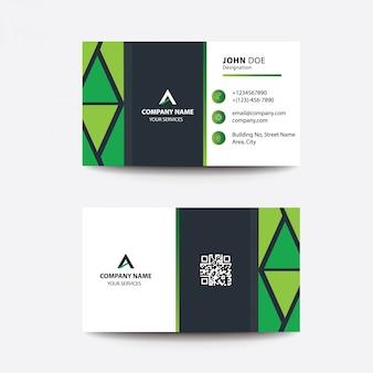 Limpe o cartão de visita liso do negócio do estilo dos inclinações do verde do projeto
