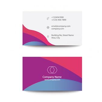 Limpe o conceito de projeto colorido moderno liso do fluxo que visita cartões de visitas