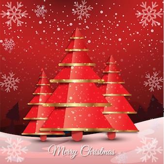 Limpe o fundo do feliz natal e do feliz ano novo com o vetor da árvore de natal