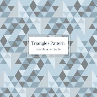 Limpe o plano de fundo do padrão de triângulos cinza sem emenda
