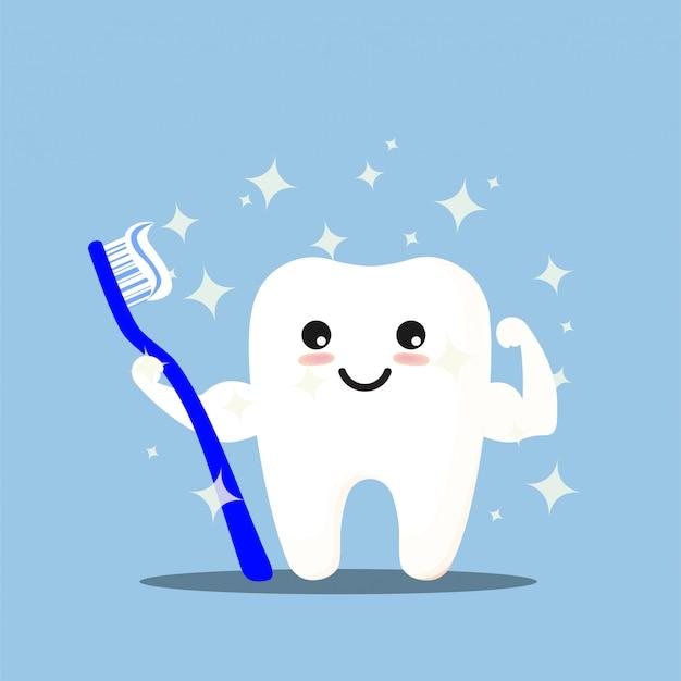 Limpeza dos dentes.