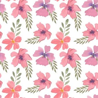 Linda aquarela floral colorida sem costura padrão