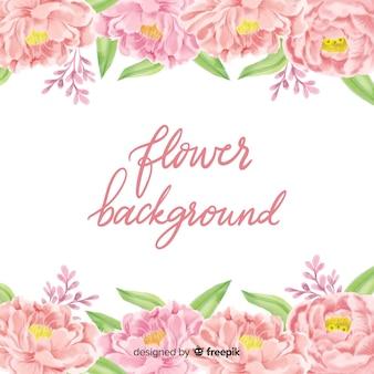 Linda aquarela floral fundo
