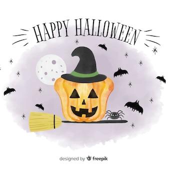 Linda aquarela fundo de halloween