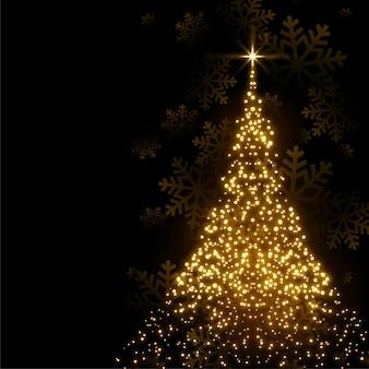 Linda árvore de natal feita com brilhos