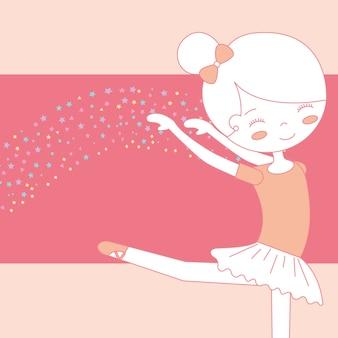 Linda bailarina dançando balé graciosamente