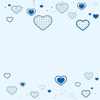 Linda borda decorada com corações