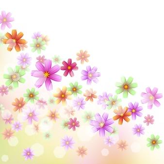 Linda borda floral para decoração de canto etc.