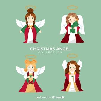 Linda coleção de anjos de natal
