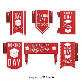 Linda coleção de crachá de venda de dia de boxe